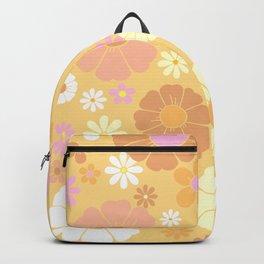 Groovy 60's Mod Pastel Flower Power Backpack