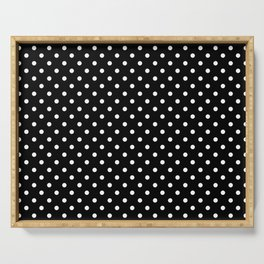 Black & White Polka Dot Pattern Serving Tray
