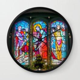 Christmas Church Window Wall Clock