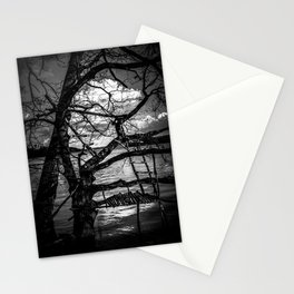Real Life Ladders Game At Möhne Reservoir Lake bw Stationery Cards