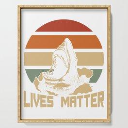 Shark Lives Matter Serving Tray