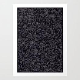 curly zen doodle Art Print