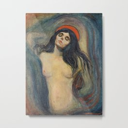 Madonna by Edvard Munch Metal Print