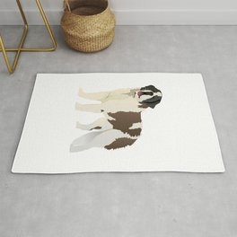 Saint Bernard Dog Rug