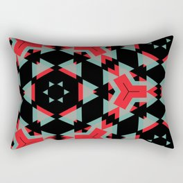 Red Grey Black Triangle Pattern Rectangular Pillow