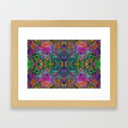 Buddha 5 geometry III Framed Art Print