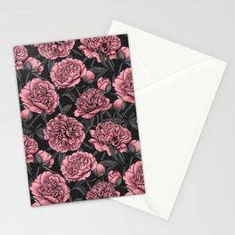 Night peony garden 2 Stationery Cards
