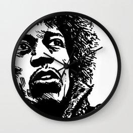 Jimi Hendrix Pop-Art Wall Clock