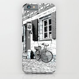 The Bicycle - Pen and ink drawing iPhone Case