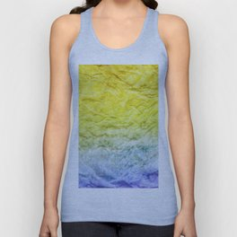 Crumpled Paper Textures Colorful P 917 Unisex Tank Top