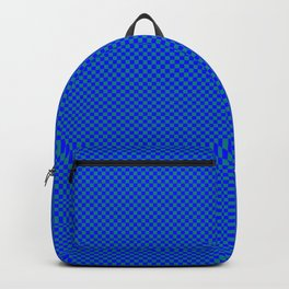 Blue and sea green squares Backpack