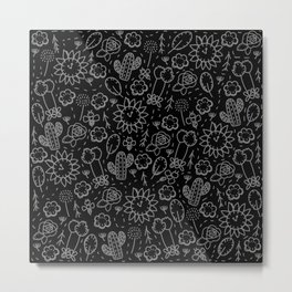 Time Garden Sketch Metal Print