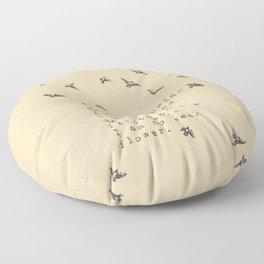 I am no weak flower - Van Vuren Collection Floor Pillow