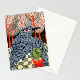 Bird with cactus Stationery Cards