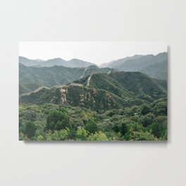 The Great Wall and mountain in Beijing Metal Print