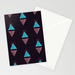 Boho Geometric Watercolor Pattern - Mauve Stationery Cards