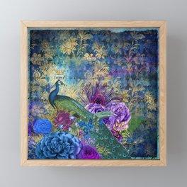 Feather Peacock 20 Framed Mini Art Print