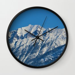 Fresh snow in September in Jasper National Park Wall Clock
