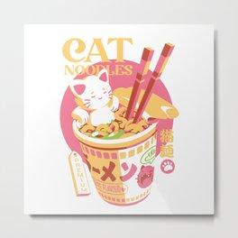 Cat Noodles Metal Print