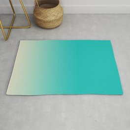 Light to Dark, Dip Dyed, Turquoise Rug
