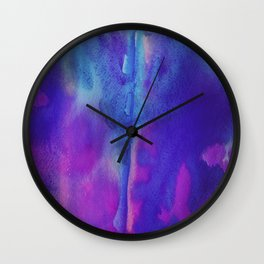 Abstract Watercolor Beautiful P 6 Wall Clock