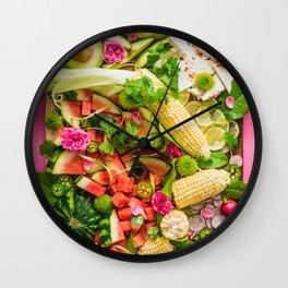 Late Summer Harvest Wall Clock