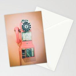 Pink Vintage Telephone Stationery Cards