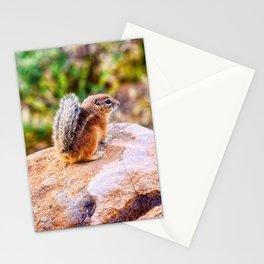 Chipmunk at springtime Stationery Cards