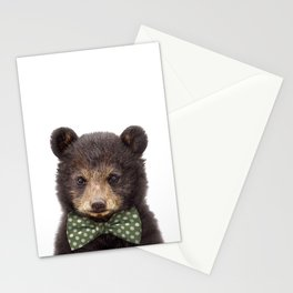 Baby Bear With Bow Tie, Baby Animals Art Print By Synplus Stationery Cards