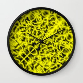 Bacteriological symmetry of a clear pattern of yellow veins and outlined droplets in the meat Wall Clock