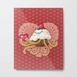 Cupcake Jellyfish Love Metal Print