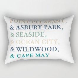 Shore Towns Rectangular Pillow