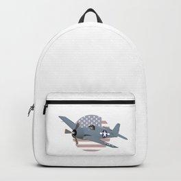 WW2 F6F Hellcat Airplane Backpack