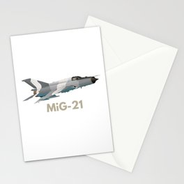MiG-21 Jet Figter Stationery Cards