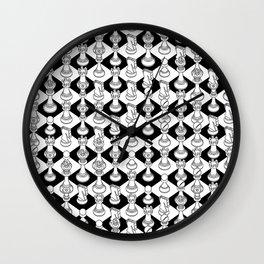 Isometric Chess WHITE Wall Clock