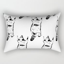 Hug Me Raccoon Print Rectangular Pillow