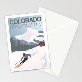 Colorado Ski Country Poster Stationery Cards