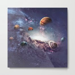 planets of the solar system galaxy Metal Print