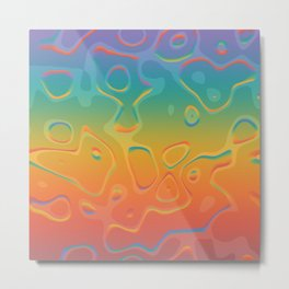 Colorful Holographic Foil Pattern 3d Texture Trendy Colors Metal Print