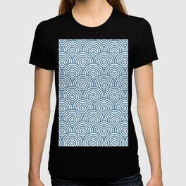 Geometric Scales Pattern - Blue & White #453 T-shirt