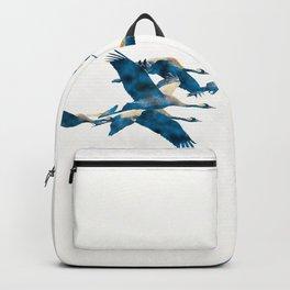 Beautiful Cranes in white background #decor #society6 #buyart Backpack