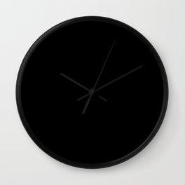 Buffalo Check - black / white Wall Clock