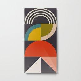 mid century bauhaus geometric large 3 Metal Print