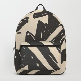 Tropical Tribal Black and White Pattern Backpack