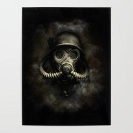 Vintage, soujer, warrior gas mask Poster