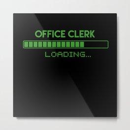 Office Clerk Loading Metal Print