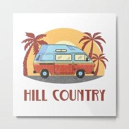 Hill Country  TShirt Vintage Caravan Shirt Travel Road Gift Idea Metal Print