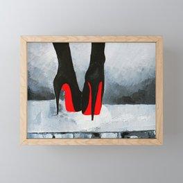 Louboutins Framed Mini Art Print
