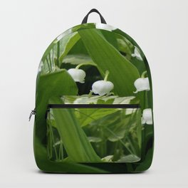Pure White Lily of the Valley Flower Macro Photograph Backpack