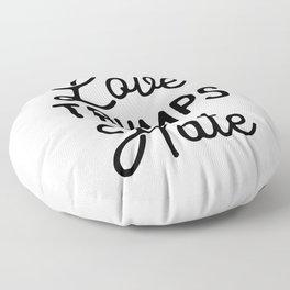 Love Trumps Hate Floor Pillow